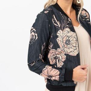 A&D Bomber Jacket Floral NWOT